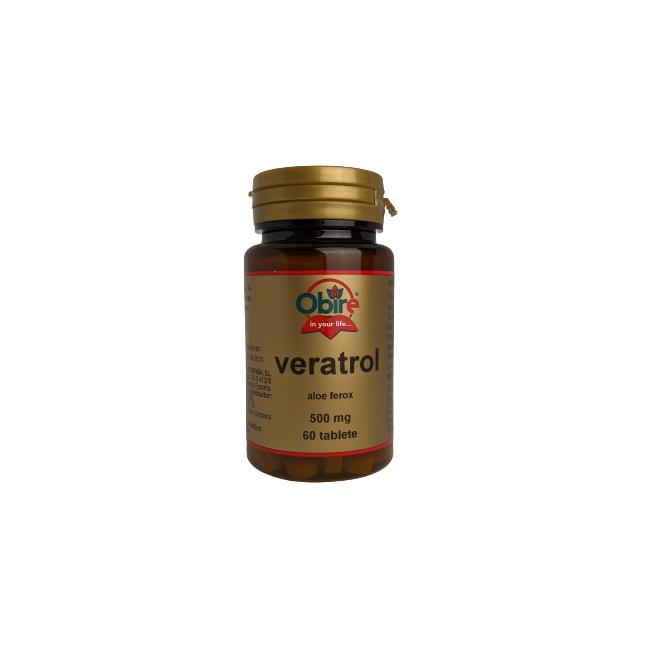 Veratrol aloe ferox mg, 60 tablete, Obire : Farmacia Tei online