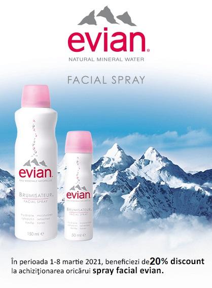 Evian 20% 1 - 8 Martie