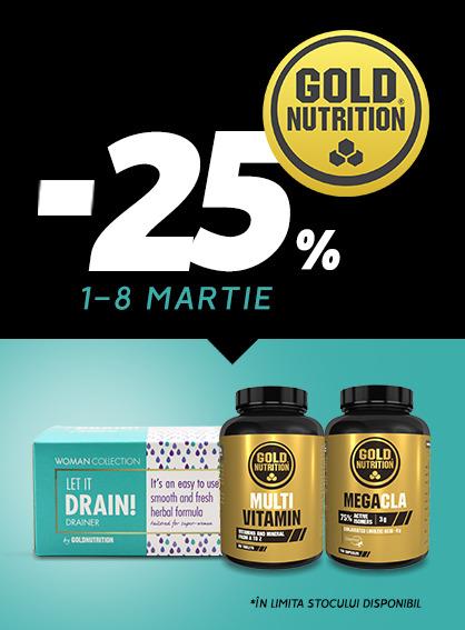 Gold Nutrition 25% 1-8 Martie