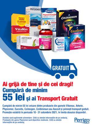 Promotie Perrigo Transport Gratuit