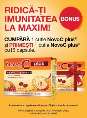Promotie NOVO C Plus Produs Bonus Octombrie