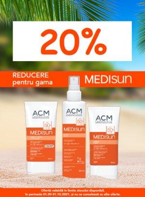Promotie ACM Medisun 20% Reducere Septembrie-Octombrie