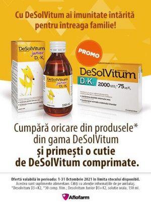 Promotie Aflofarm Desolvitum Produs Bonus Octombrie