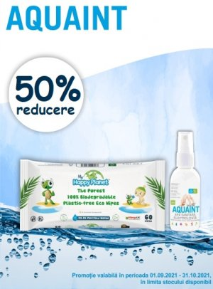 Promotie Aquaint 50% Reducere Septembrie-Octombrie