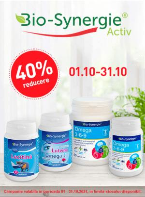 Promotie Bio Synergie 40% Reducere Octombrie