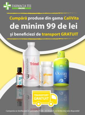 Promotie Calivita Transport Gratuit Octombrie