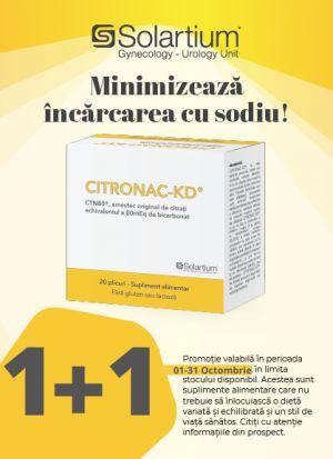 Promotie Citronac 1 + 1 Produs Bonus Octombrie