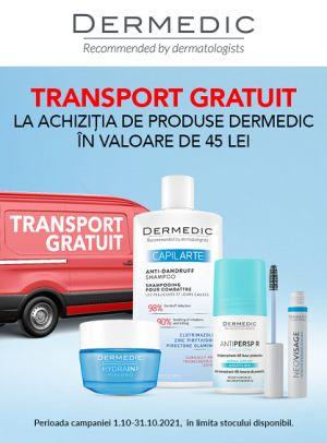 Promotie Dermedic Transport Gratuit Octombrie