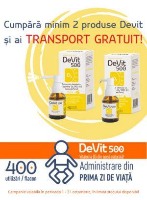 Promotie Devit Transport Gratuit Octombrie