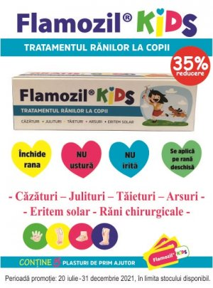 Flamozil Kids 35% Iulie-Decembrie