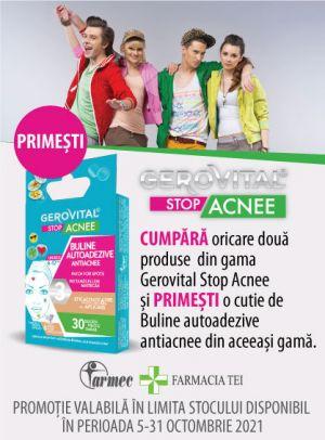 Promotie Gerovital Acnee Produs Bonus Octombrie