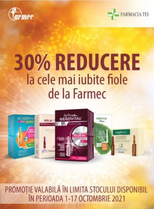 Promotie Gerovital Fiole 30% Reducere Octombrie