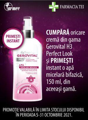 Promotie Gerovital Perfect Look Produs Bonus Octombrie