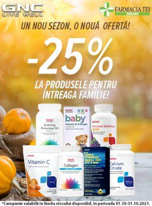Promotie GNC 25% Reducere Octombrie