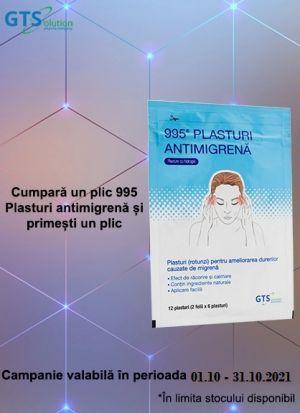 Promotie Plasturi antimigrena Produs Bonus Octombrie