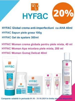 Promotie Hyafac 20% Reducere Octombrie