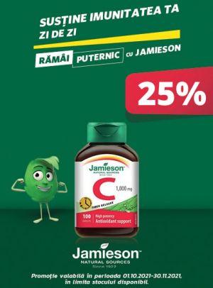 Promotie Jamieson 25% Reducere Octombrie - Noiembrie