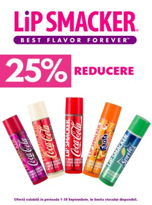 Lip Smacker 25% Septembrie