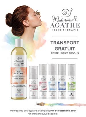 Promotie Mademoiselle Agathe Transport Gratuit Octombrie