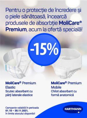 Promotie Molicare 15% Reducere Octombrie-Noiembrie