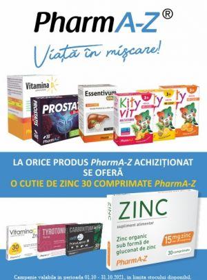 Promotie PharmA-Z Produs Bonus Octombrie