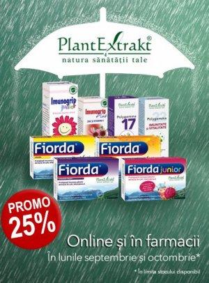 Promotie PlantExtrakt 25% Reducere Septembrie - Octombrie