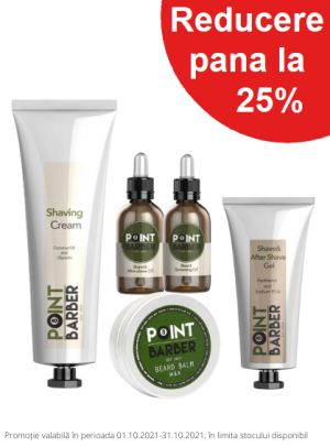 Promotie Point Barber 25% Reducere