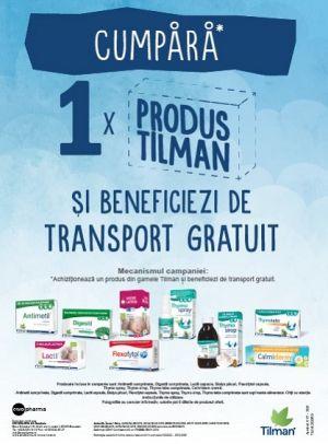 Promotie Tilman Transport Gratuit Octombrie