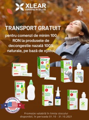Promotie Xlear Transport gratuit Octombrie