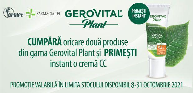 Promotie Gerovital Plant Produs Bonus Octombrie