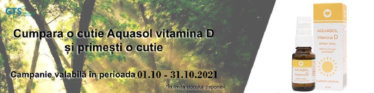 Promtoie Aqasol Vitamina D3 15% Reducere Octombrie