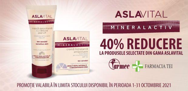 Promotie Aslavital 40% Reducere Octombrie