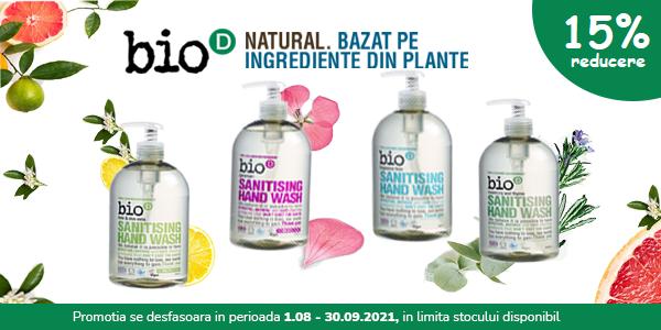 Bio-D 15% August-Septembrie