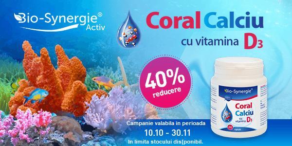 Promotie Bio Synergie Calciu Coral 40% Reducere