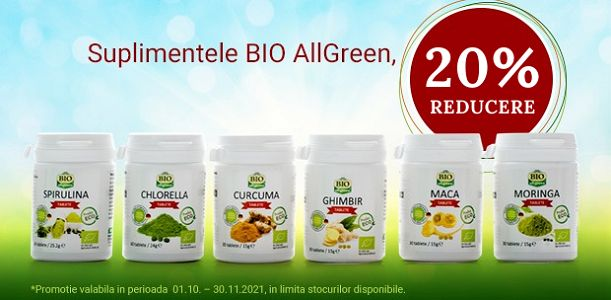 Promotie BioAllGreen 20% Reducere Octombrie-Noiembrie