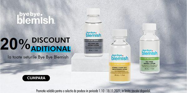 Promotie Bye Bye Blamish 20% Reducere