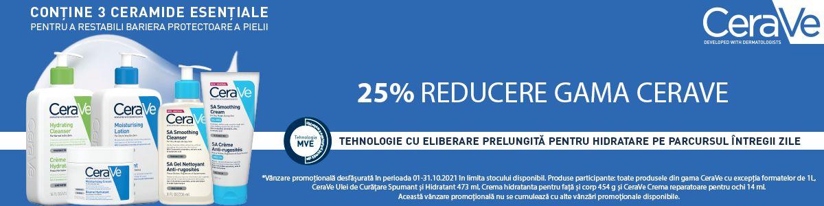 Promotie Cerave 25% Reducere Octombrie