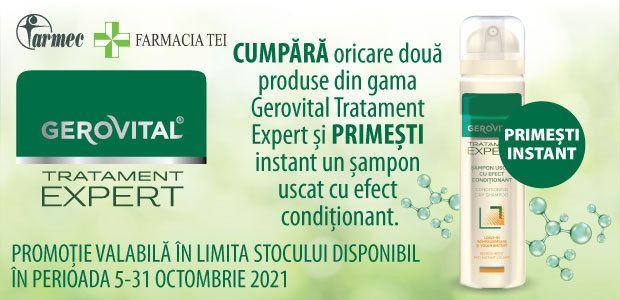 Promotie Gerovital Tratament Expert Produs Bonus Octombrie