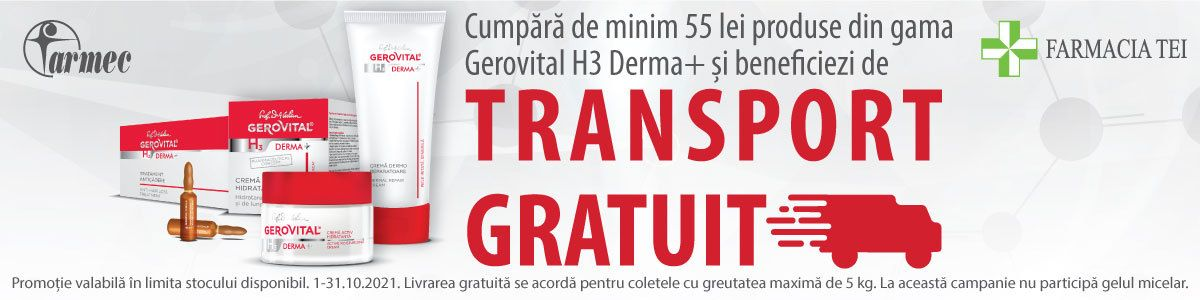 Promotie Gerovital Transport Gratuit Octombrie