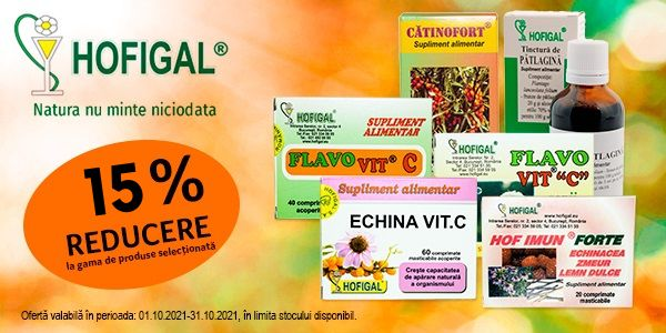 Promotie Hofigal 15% Reducere Octombrie