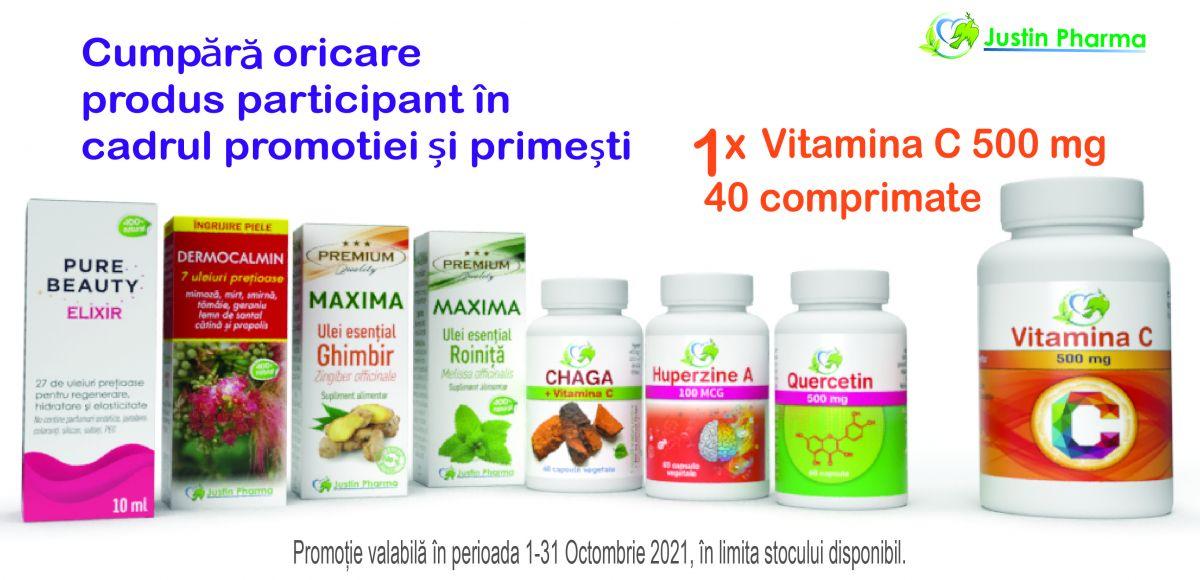 Promotie Justin Pharma Produs Bonus Octombrie