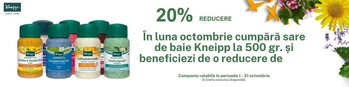 Promotie Kneipp 20% Reducere Octombrie