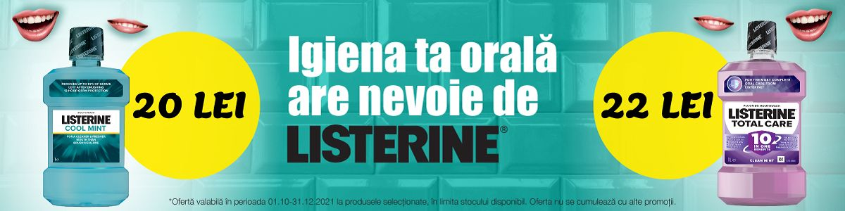 Promotie Listerine Reducere Octombrie-Decembrie