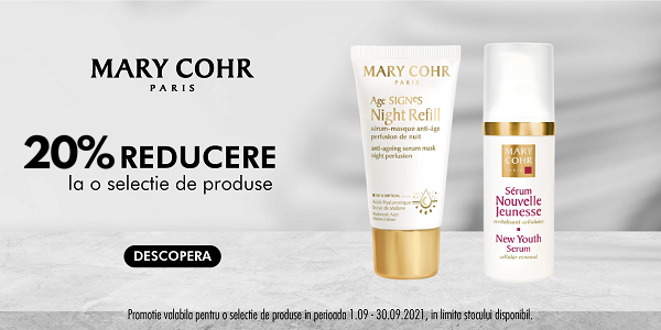 Mary Cohr 20% Septembrie
