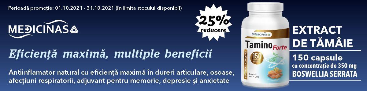 Promotie Medicinas 25% Reducere Octombrie