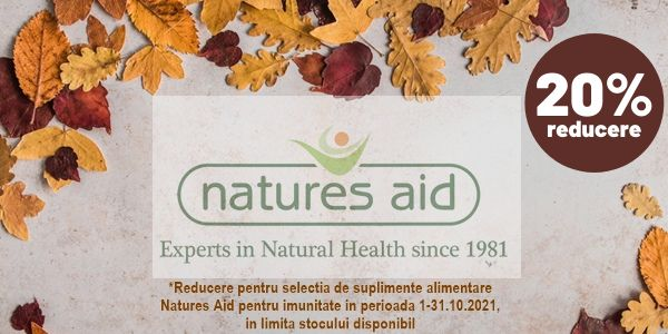 Promotie Natures Aid 20% Reducere Octombrie