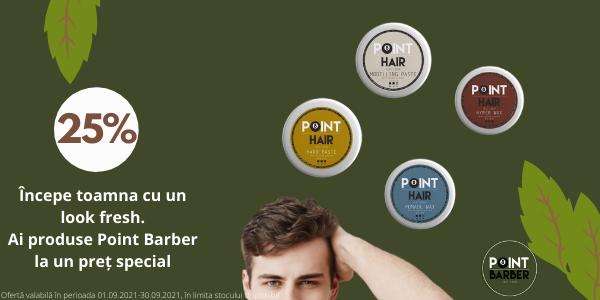 Point Barber 25% Septembrie