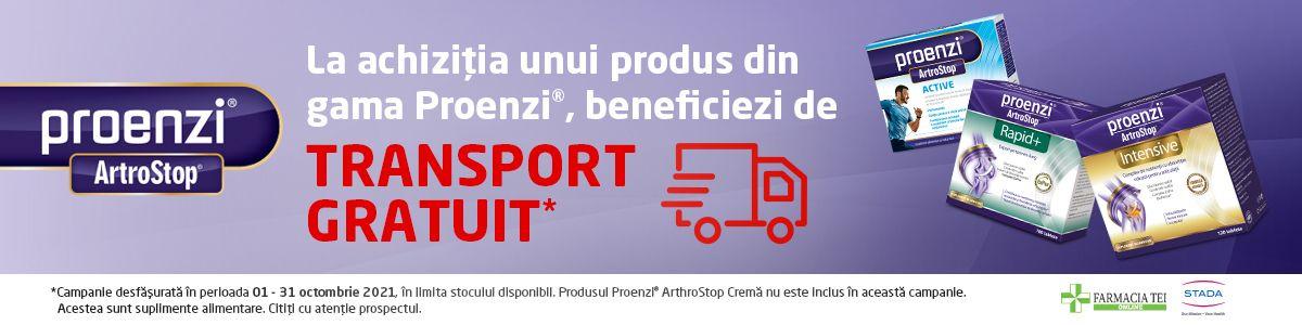 Promotie Proenzi Transport Gratuit Octombrie