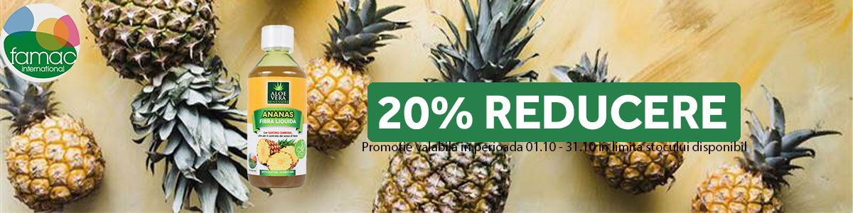 Promotie Suc ananas 20% Reducere Octombrie