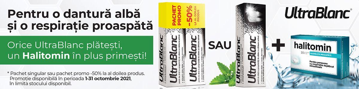 Promotie UltraBlanc Halitomin Produs Bonus Octombrie